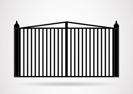 iron and steel: Gate icon illustration. Vector EPS10.