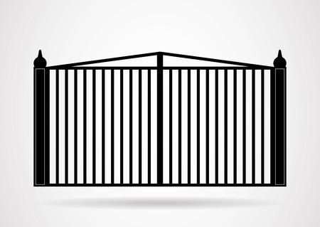 puertas de hierro: Puerta icónico. Vector EPS10.