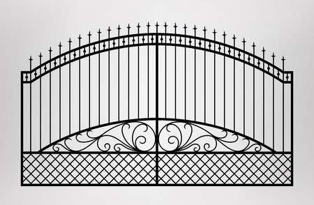 iron fence: Forged gate Architecture detail