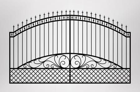 Puerta forjada Arquitectura detalle