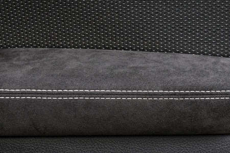 saddler: Leather background. Modern car interior detail. Stock Photo