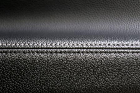 saddler: Modern car interior leather texture background. Stock Photo