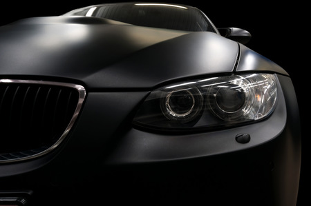 Modern car headlights. Exterior detail. Фото со стока - 43887752