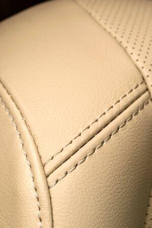 saddler: Leather background. Business car interior detail.