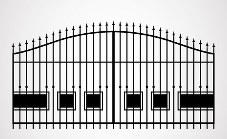 architecture detail: Forged gate. Architecture detail. Vector EPS10.