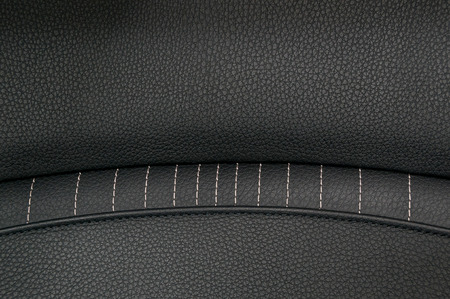 nervure: Leather background. Modern business car interior detail. Stock Photo