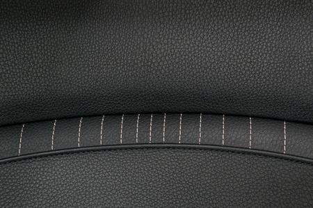 saddler: Leather background. Modern business car interior detail. Stock Photo