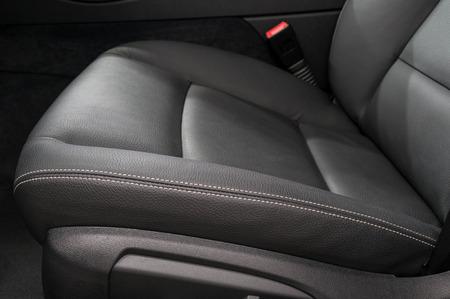suede belt: Modern car leather seat. Interior detail.