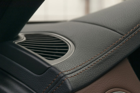Car leather texture background. Interior detail. Stock Photo
