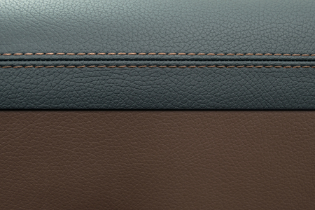 Leather texture background. Modern business car interior detail.