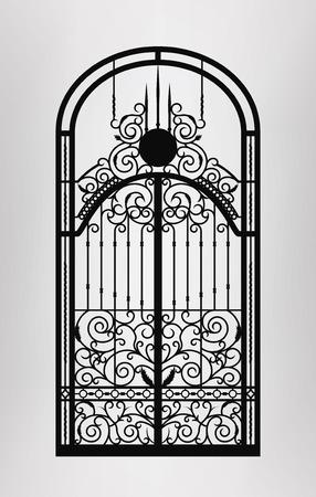 Gesmede poort deur icoon. Vector EPS10.