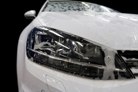 car wash: Car wash with soap.