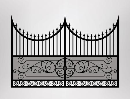 Gate icon illustration. Vector EPS10.