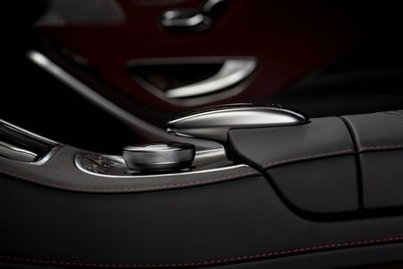 Luxury car interior background.