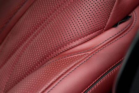 Car leather background with stitch.