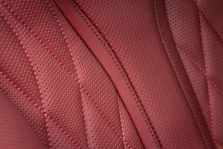 nervure: Car interior background. Detail of leather car seat with stitch.