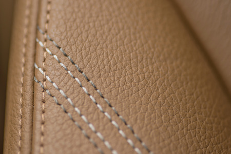 Leather background. Detail of car seat.