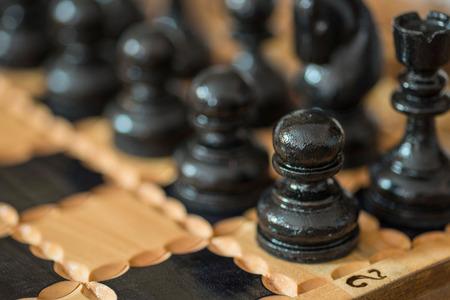 Black chess figure. Stock Photo
