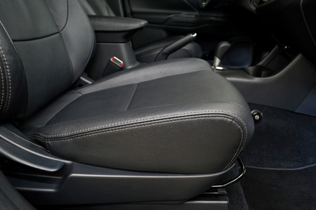 Leather seat. Modern car interior.