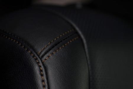 saddler: Car leather background. Interior detail. Macro photo. Stock Photo
