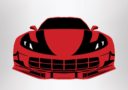 Modern sport car icon. Illustration