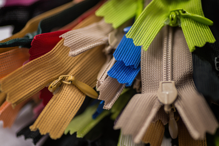 Colorful zippers.