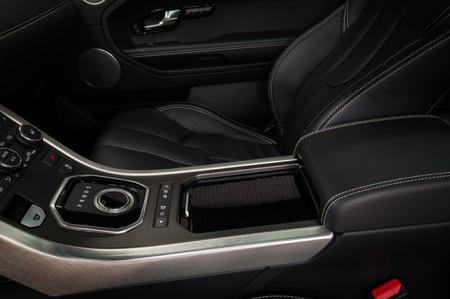Modern car control panel. Interior detail. Фото со стока - 90875505
