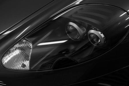 Sport car headlights. Exterior detail. Фото со стока - 93681121