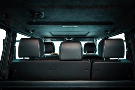 Modern car inside. View from back. Фото со стока - 94571574