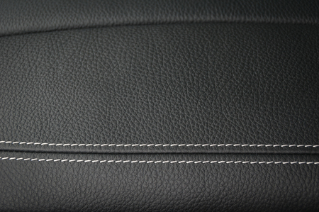 Leather texture background. Modern business car interior detail. Фото со стока - 94500558
