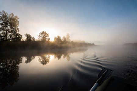 Sunrise at the river. Фото со стока - 94500557