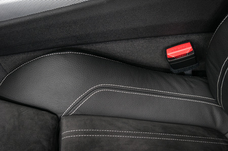 Part of modern car leather seat. Interior detail. Фото со стока - 95049444