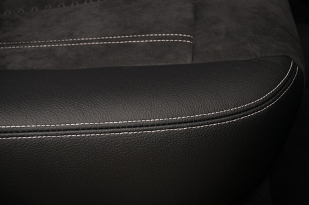 Part of car leather seat. Interior detail. Фото со стока - 94893884