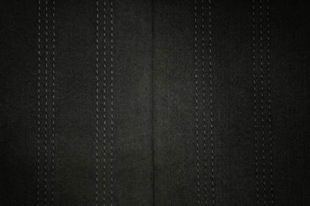 Suede texture background with stich. Car interior detail. Фото со стока - 96309903