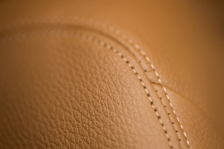 Leather background with stich. Car interior detail. Фото со стока - 96273842