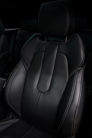 Modern car leather seat. Interior detail. Фото со стока - 108313959