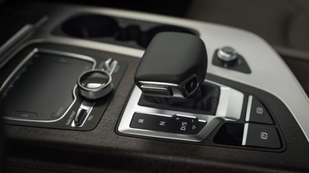 Modern car automatic transmission. Interior detail. Фото со стока