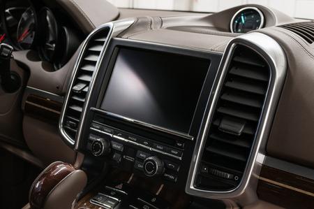 Modern car dashboard. Interior detail. Фото со стока - 121734583