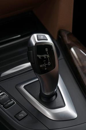 Car automatic transmission. Interior detail.