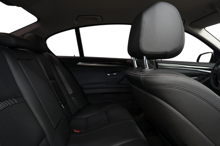 Car inside background. Leather seats.