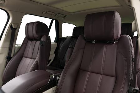 Modern leather car seats. Interior detail. Фото со стока - 121735200