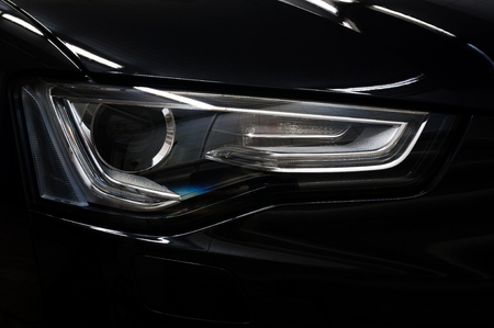 Car headlight. Exterior detail. Stockfoto