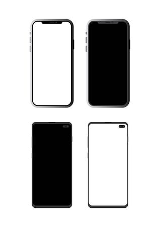 Vector smart phones. Isolated on white background. 일러스트