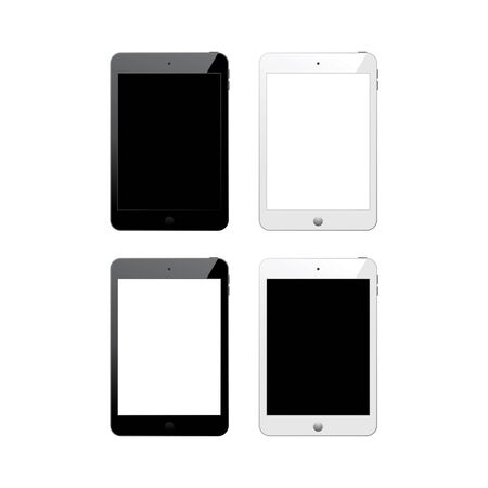 Tablet computer vector illustration. Tablet stock vector. Icon on white background. EPS10.