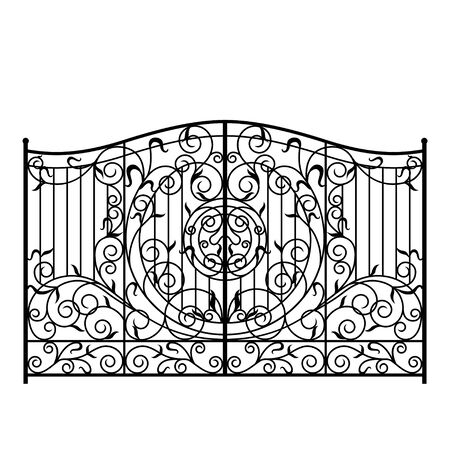 Forged gate illustration. Vector EPS10. Иллюстрация