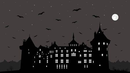 Halloween background. Vector EPS10. Иллюстрация
