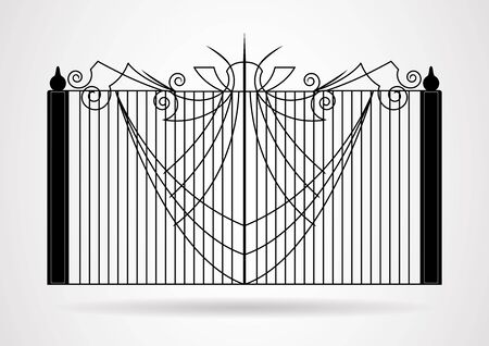 Gate icon vector illustration. EPS10.