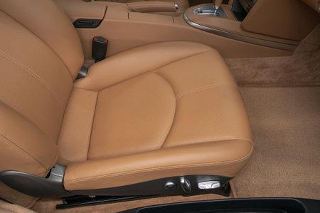 Leather seat in modern sport car.