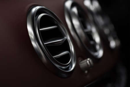 Modern car dashboard with screen multimedia. Interior detail. Stock fotó