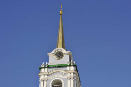 gilded spire of the chapel of the Tula Kremlin
